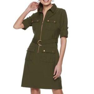 Sharagano Army Green Dress